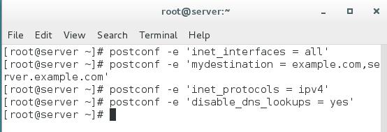 postfix server configuration