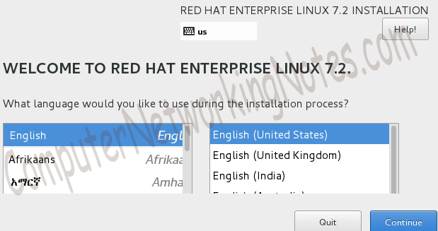 rhel instllation begin