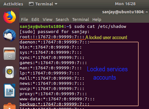 /etc/shadow file password field