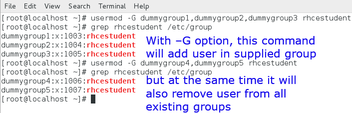 usermod command add user to group