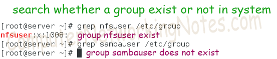 grep check whether group exist or not