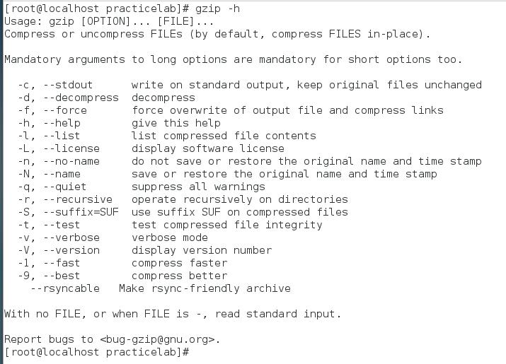 gzip command help