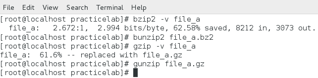 gzip vs bzip2