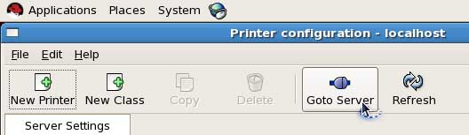 go to printer server