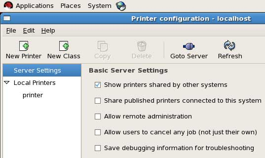 printer option