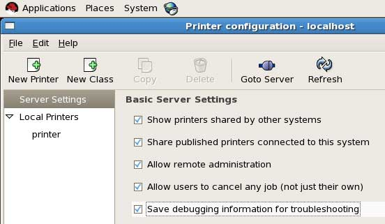 share printer from server