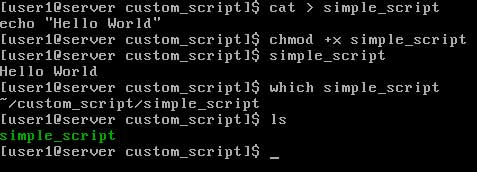 Linux environment variable sample script which