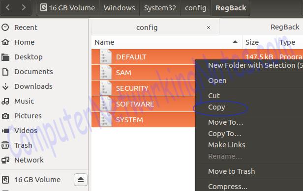 copy backup file