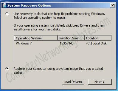 restore option