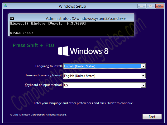 windows reset user password command line